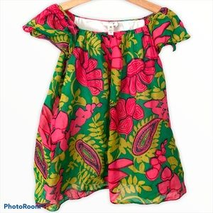 Milly minis girl top blouse floral print 10 tank